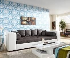 big sofa weiss big sofa stella 300x140 cm in weiss grau strukturstoff mit 10