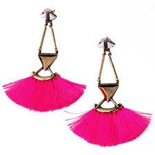 Pink Chandelier Earrings Allemande Fringe Drops Pink Statement Earrings By Shamelessly
