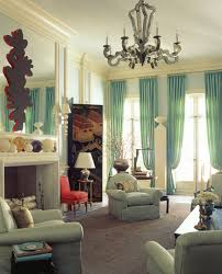Mint Blue Curtains Living Room Spacious Living Room Features Mint Blue Colored Walls