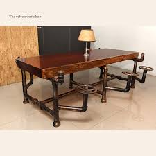 bureau meubles industrial pipe office furniture golden years series