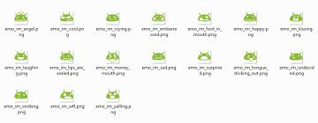 emoticons for android texting keyboard where can i find a list of the default emoticons on