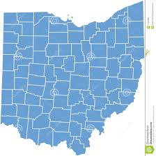 Map Of State Of Ohio by Ohio State Map By Counties Stock Photo Image 11564290