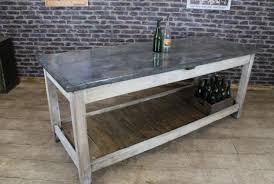 kitchen work island vintage industrial zinc top kitchen island storage counter
