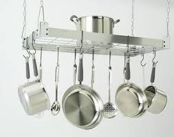 pot rack with lights leaf rounded hanging pot rack with 3 lights