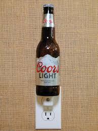 coors light gift ideas coors light 12oz glass bottle night light by glassbottleguy drill