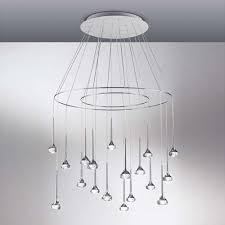 Cluster Pendant Light Fairy 18 Light Round Cluster Pendant Light By Axo Light Ylighting
