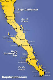 Mexico States Map by Map Of The Baja California Peninsula Of Mexico Bajainsider Com