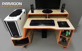 pc gaming desk setup paragon gaming desk on behance industrial pinterest gaming