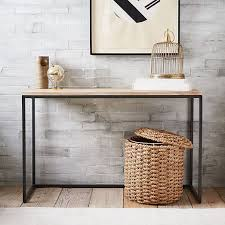 console table used as dining table box frame console table wood west elm 350 this could be