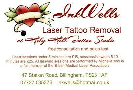 inkwells laser tattoo removal at holy hell tattoo studio home