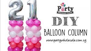 balloon wholesale diy number balloon column tutorial party wholesale centre