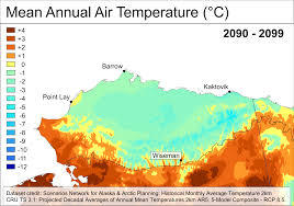 Alaska Temperature Map by Climate Projection Maps And Rasters Arctic Lcc