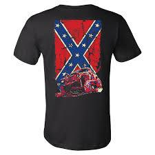Southern Rebel Flag Confederate Flag Cherokee Xj Jeep T Shirt Black