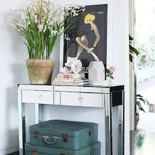 entrance table and mirror mirrored foyer table design ideas