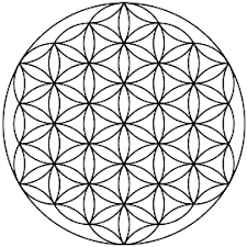 this is the flower of life symbol it is sacred geometry and