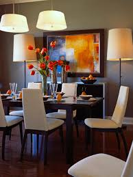 cozy orange white accent for dining room decorating ideas with