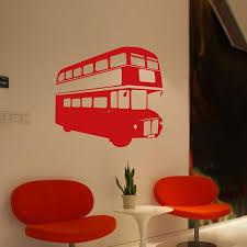 cityscape wall stickers post box phone box stickers london bus wall sticker
