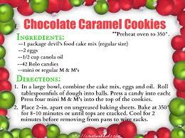 chocolate caramel christmas cookies the taylor house