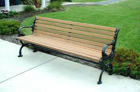 Benches In Park - chic garden park bench park bench in a garden painting patty
