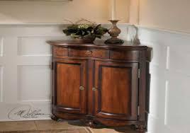 corner storage cabinet for living room in dark brown color home