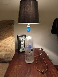 grey goose vodka bottle lamp with 3 way lamp kit and black