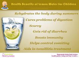 benefits of lemon water for children