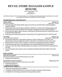 exle resume for retail retail manager resume therpgmovie