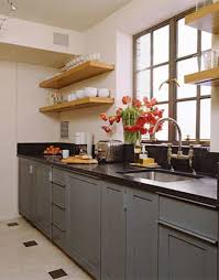 types of kitchen wooden open kitchen shelves over black countertop types of