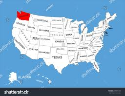 Picture Of Map Of Washington by State Washington Usa Vector Map Isolated Stock Vector 309895730