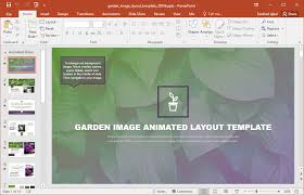 animated garden template for powerpoint