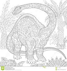 zentangle brontosaurus dinosaur stock vector image 87111969
