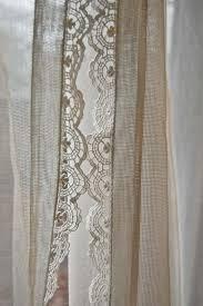 Burlap Curtains With Fringe Net Curtains Crochet Burlap With Lace Distinctive Curtain Best