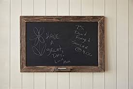 vintage rustic wood framed chalkboard with