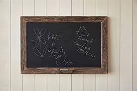 wood framed vintage rustic wood framed chalkboard with