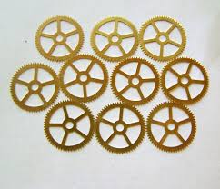 steampunk watch parts 10 large gears stamped brass gears