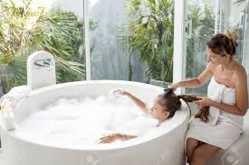 cleansing the soul outdoor baths and showers bath winsome bathroom outdoor bath bathroom awesome mom brushing hair of her child in luxury hotel with budapest baths