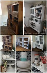 Kitchen Hutch Furniture Remodelaholic Create A Kitchen Hutch From An 80 U0027s Wall Unit