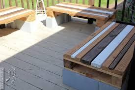 cinder block bench with back design
