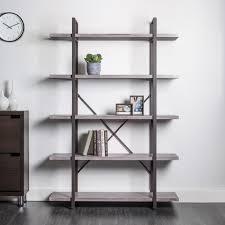 Bookcase 5 Shelf Ksp Studio U00275 Shelf U0027 Bookshelf Brown Kitchen Stuff Plus