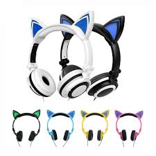 light up cat headphones up cat ear headphones