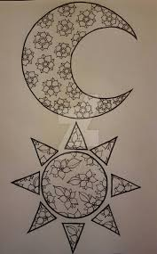 matching sun and moon tattoos by kaylababe75 on deviantart