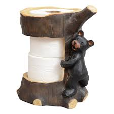 Black White Kitty Toilet Paper Holder Rustic Towel Bars And Lodge Bathroom Accessories