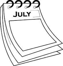 4th of july calendar paper coloring page wecoloringpage