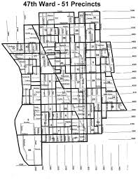 Chicago Map Art by 47th Ward Map Ravenswood Lakeview Chicago Illinois Steviestv Com