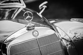 mercedes ornament emblem 1006bw photograph by reger
