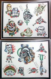Star Wars Room Decor Etsy by Star Wars Themed Tattoo Flash Set 20 00 Via Etsy Tattoo