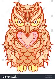 amusing big orange owl long beak stock vector 380787688 shutterstock