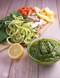 vegetables in a creamy pesto sauce paleo leap