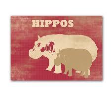 hippos kids art prints hippopotamus nursery decor baby hippo