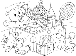 toys colouring pages funycoloring